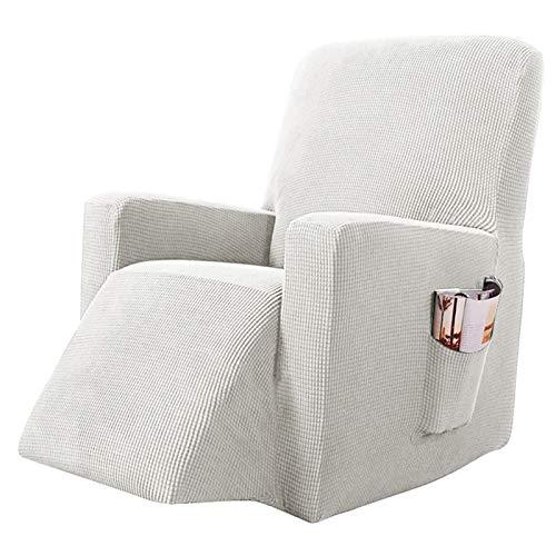 YRRA Alta Elasticidad Todo Incluido Funda de sofá, Color sólido Tejido Jacquard Funda de sofá Lavable Sofá Cubierta Protectora, para la Sala de Estar Perro Mascota Protector de Muebles,Blanco