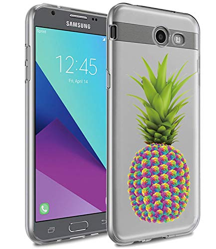 Scratch-Proof Cover Compatible with Samsung Galaxy J7V // J7 Perx // J7 Sky Pro // J7 Prime // J7 Halo Rubbery TPU Gel Skin Case Soccer Ball Ultra Slim Soft Flexible