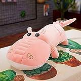 huobeibei Abajo algodón Suave cocodrilo muñeca Felpa Almohada para Dormir muñeca Infantil muñeca Grande 130 cm Rosa