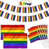 AZ FLAG Bandera de Mesa Arcoiris Oso 21x14cm S/ÍMBOLO LGBT 14 x 21 cm Rainbow BANDERINA de DESPACHO Gay