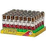 4 Stück, Clipper Feuerzeug, normale Größe, Motiv Flagge von Wales, roter Drache/Banner Cymru Y Ddraig Goch