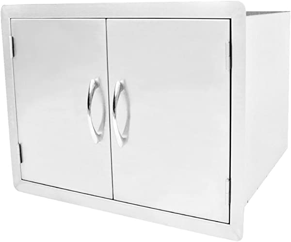 Outdoor Kitchen Double Door Dry Storage Pantry 30 Stainless Steel