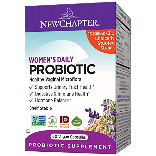 New Chapter Probiotics for Women, 60ct (2 Month Supply), Women's Daily Probiotic with Prebiotics and Probiotics + 100% Vegan + Soy Free + Non-GMO