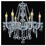 Dst marie therese 6 bras branches lumière clair cristal lustre en verre