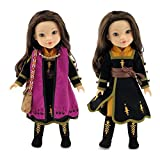 Emily Rose Doll Clothes for 14 inch American Girl Wellie Wishers | Princess Anna Frozen 2 Inspired 6 PC Outfit with Boots | 14 Inch Doll Clothes for Glitter Girls and Similar Dolls