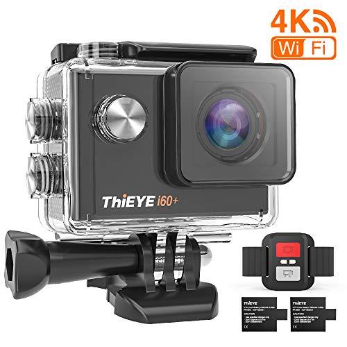 ThiEYE i60+ Action Camera 4K WiFi 20MP 170° Grandangolare 2.0' LCD HD Screen 2.4G Telecamera Videocamera 60M Subacquea Impermeabile con Telecomando Du