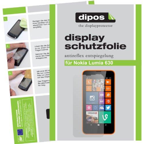 dipos I 2x Pellicola Protettiva antiriflesso Compatibile con Nokia Lumia 630 Pellicola di Protezione