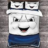Juego de sábanas de 3 piezas de Ghost-Busters con cierre de cremallera (1 juego de funda de edredón, 2 fundas de almohada) C10309