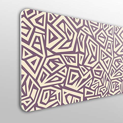 MEGADECOR Cabecero Cama PVC 10mm Decorativo Económico. Fondo Abstracto Geométrico, Estilo Moderno. (115cm x 60cm)