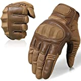 AXBXCX Touch Screen Full Finger Gloves for Motorcycles Cycling Motorbike ATV Bike Camping Climbing Hiking Work Outdoor Sports Men Women Brown L