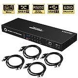 TESmart KVM Switch 8 Port HDMI | 4K 30Hz Ultra HD | Enterprise Grade | RS232 | LAN Port | IP Control | Auto Scan | Rackmount [Control Eight PCs, Laptops, Servers w/One Video Monitor, Keyboard, Mouse]