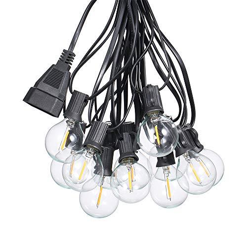 LED Lichterkette Glühbirnen,Tomshine G40 Glühbirnen Lichterkette Außen,6,5M Led Lichterkette Glühbirne 12 Birnen mit 1 Ersatzbirnen, für Hochzeiten im/Xmas/Party, IP44 Wasserdichte [Energieklasse A+]