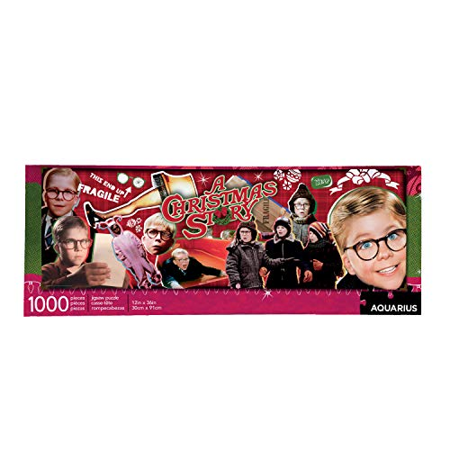 AQUARIUS A Christmas Story Puzzle (Slim 1000 Piece Jigsaw Puzzle) - Glare Free - Precision Fit - Virtually No Puzzle Dust - Officially Licensed Merchandise & Collectibles - 12 x 36 Inches, Multicolor