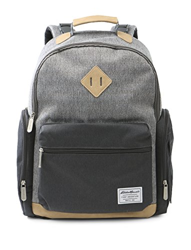Eddie Bauer Bridgeport Places and Spaces Back Pack Diaper Bag, Grey