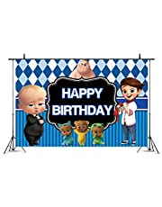 Baby Boss Family Background Baby Children Happy Birthday Party Decoration Baby Party banner5 x 3ft Decoration photography background for photo studio newborn Baby shower birthday party supplies banner