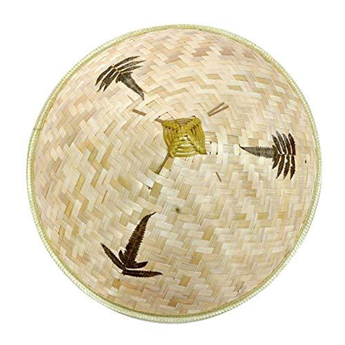 Ztoma Strohhut, Sonnenhut, Chinesisch Orientalisch Vietnamesisch Strohhalm Bambus Farmer Fischen Sonnenhut - 36cm, 36cm