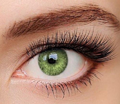 ELFENWALD farbige Kontaktlinsen, INTENSE, stark deckend, natürlicher Look (Smaragd)