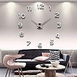 YMSWTF Luminosa Grande DIY del Reloj de Pared en Pared 3D de Bricolaje acrílico Relojes de Pared Home Office Decor Luminou Watck Etiqueta Reloj de Cuarzo de Pared Grande