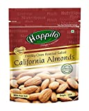 HappiloPremium Californian Almonds Roasted and Salted, 200g (Pack of 2)