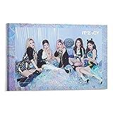 prunushome Star Girl Group Itzy Kpop Ice Teaser Lia Yeji Yuna Ryujin Chaeryeong Member Set Poster Pintura Decorativa Lienzo Arte de la Pared de la Sala de estar Carteles Pintura Dormitorio 30x45cm
