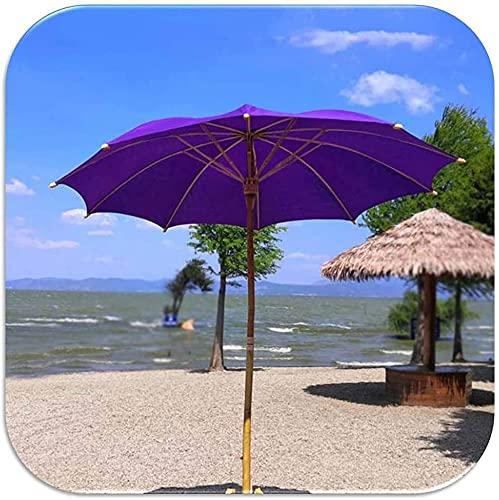 NYCUABT Patio Ombrello Bamboo Garden Garden Parasol 2m rotondo ombrellone da ombrellone da ombrellone Protezione solare, bambù naturale, anti-ultravioletto, prodotti fatti a mano, con copertura ombrel