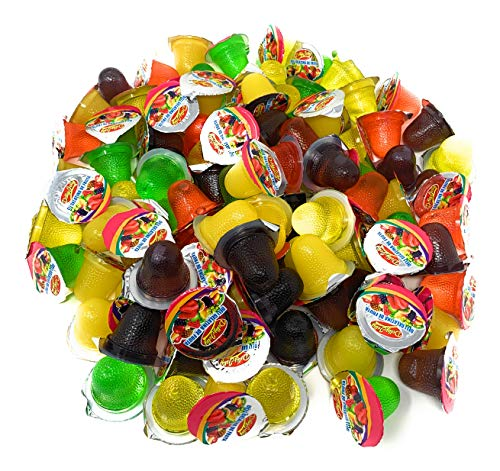 Delly Jelly - 100 Assorted Fruit Flavored Jelly Candy Cups
