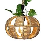 Jay Cuerda de cáñamo Accesorios de araña creativos Lámpara Colgante de Hierro Pantalla de lámpara Hecha a Mano Natural Loft Lámparas de Techo Antiguas de Edison Sala de Estar Dormitorio Decoración