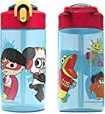 Zak Designs Ryan's World Ryan and Combo Panda 16 ounce Water Bottle BPA Free Made of Durable Material and Perfect for Kids (2 Piece)