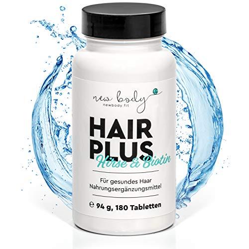new body® Vegane Haarkapseln mit Biotin für stärkeres Haarwachstum - 180 hochdosierte Anti-Haarausfall Kapseln - Effektives Haarwuchsmittel für Frauen & Männer - Made in DE