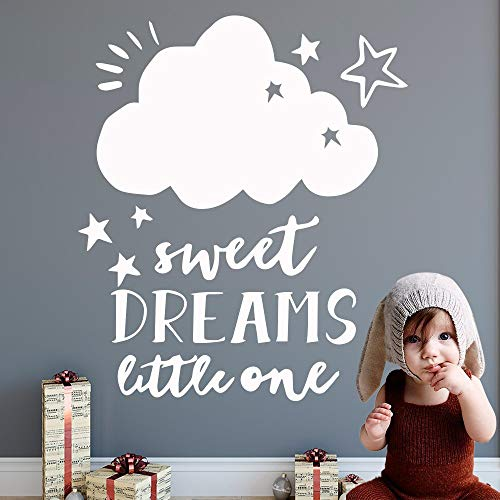 Ajcwhml Cute Cloud Vinyl Wall Sticker Wallpaper decoración