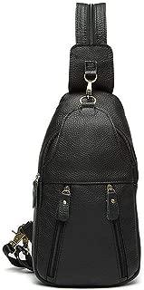 Lcxliga Shoulder Backpacks Bags Crossbody Rope Genuine Leather Men Chest Bag Shoulder Bags Crossbody Bag Packet Carry Bag
