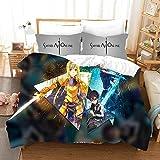 Tres piezas de funda de edredón for Sword Art Online Yuki Asuna / Yuuki Asuna Arma, animado 3D edredón almohada, 100% poliéster, suave y cómodo, ropa de cama de Otaku del animado y aficionados, el mej