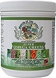 Super Omega Greens Complete Superfood Supplement with Greens, Vegetables, Flax, Fiber, Antioxidants, Enzymes, Probiotics, Vitamin C and Omega 3. 9.9 oz.