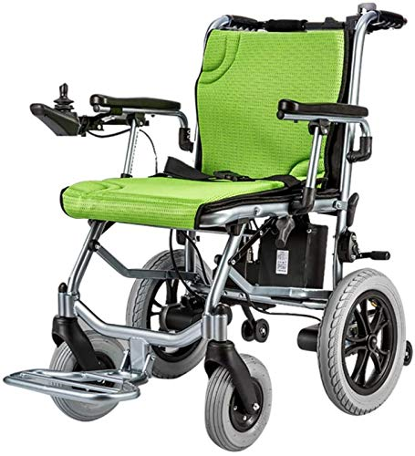 GJNVBDZSF Wheelchair, Ultra Portable Folding Transport Chair,Weights Only 35 lbs(Including 1 Lithium Battery), Up To 2 Range, Singlecontrol