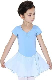 Insun Ni/ña Vestidos de Danza Manga Larga Maillots de Ballet Algod/ón Leotardo Gimnasia con Falda Tut/ú