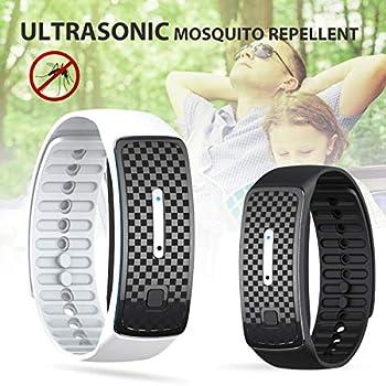 WZLOVE Montre à ultrasons Anti-moustiques, Bracelet électronique Anti-moustiques, extérieur Anti-moustiques Portable, Bracelet à ultrasons Anti-moustiques avec Trois Modes