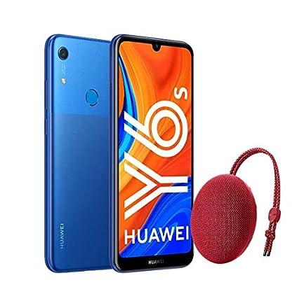 "Huawei Y6s - Smartphone de 6.09"" (RAM de 3 GB, Memoria de 32 GB, Cámara trasera de 13MP, Cámara frontal de 8MP, EMUI 9) Azul + Portable Bluetooth Speaker CM51 Rojo"