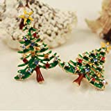 Rhinestone Crystal Brooch Enamel Gorgeous Christmas Tree Pin Valentine's Day Holiday Party Gifts Your Wife Girlfriend/Lover Will Love It