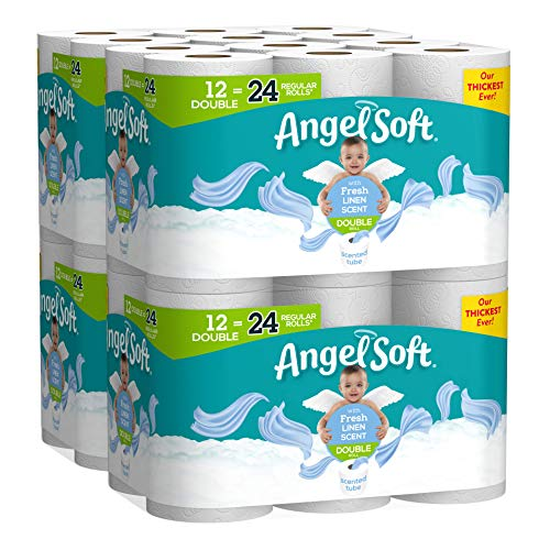 Angel Soft Toilet Paper, Linen Scent, 48 Double Rolls, 48 = 96 Regular Rolls, Bath Tissue