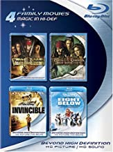 4 Family Movies: (Pirates of the Caribbean: Curse of the Black Pearl / Pirates of the Caribbean: Dead Man's Chest / Invincible / Eight Below)