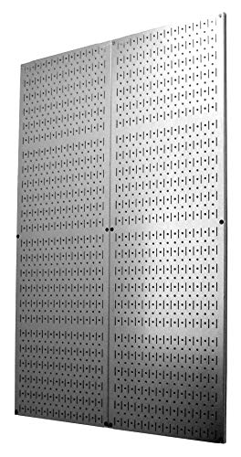 4 Foot Pegboard Sheets with Formed Edges by Wall Control Pegboard  Two Pack of 16in x 48in Metal Pegboard Panels