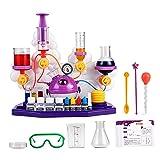 Hellery Kit de Prueba de Química y Ciencia para Niños, Juego de simulación, Laboratorio de Ciencia, Juguetes educativos para niños 3-12 - B