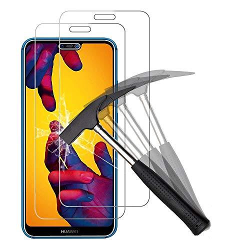 ANEWSIR 2 Stück Schutzfolie für Huawei P20 Lite, Gehärtetes Glas Displayschutzfolie, Anti-Kratzen, Anti-Öl, Anti-Bläschen, Panzerglasfolie Folie Für Huawei P20 Lite.