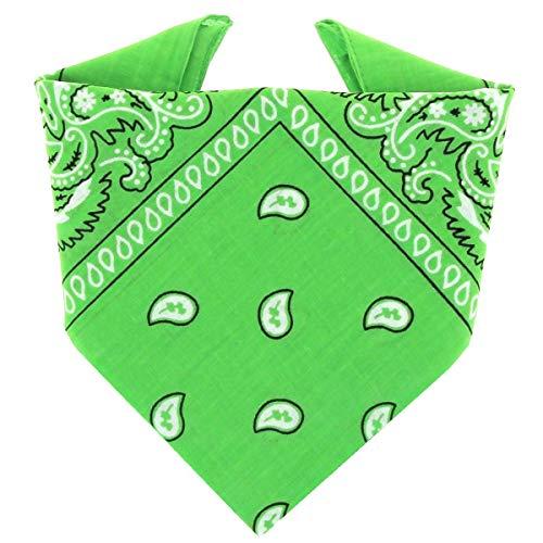 ...KARL LOVEN Bandane 100% cotone per donna uomo Bambini fazzoletto da collo bandana Mela Verde originale motivo paisley copricapo sciarpa per capelli collo polso testa cravatta motociclista