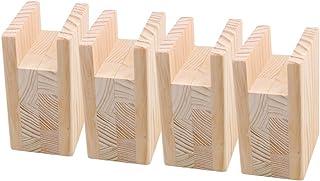 4 elevadores de muebles de cama de madera resistente para mesa de sofá y silla