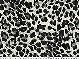 ab 1m: Viskose Mousseline, Animal Print, Leopard, graun,