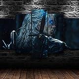 Decoración De Arte De Pared 5 Piezas Imprime En Lienzo Juego De Programa De TV HD Cuadro Estilo Abstractos Moderna Inicio Decoración Lienzos Listo para Colgar(con Marco)