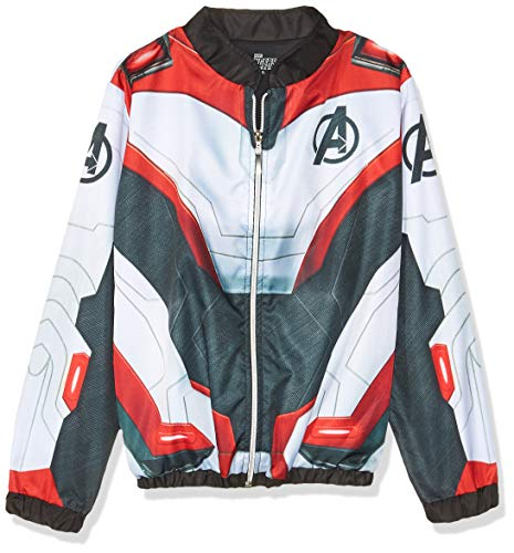 Avengers End Game Chamarra Advengers Chaqueta para Niños, Color Blanca, 10