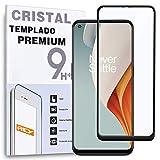 REY Protector de Pantalla Curvo para ONEPLUS Nord N10, Negro, Cristal Vidrio Templado Premium, 3D / 4D / 5D, Anti Roturas