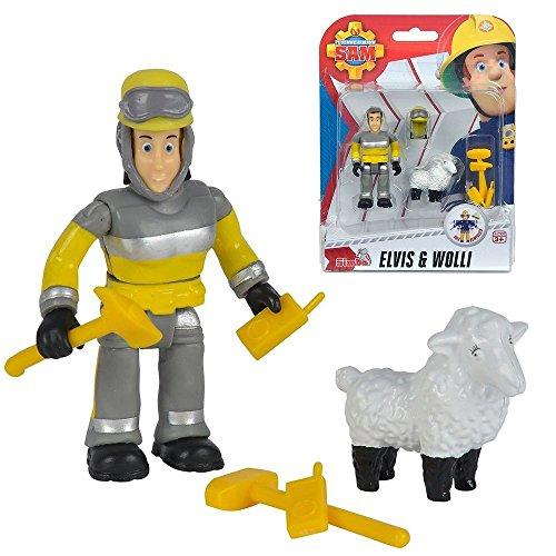 Feuerwehrmann Sam - Spiel Figuren Set - Tierrettung Elvis & Wolli